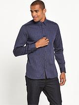 Indigo Allover Print Shirt