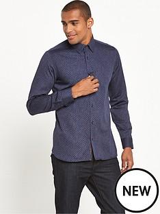 ted-baker-indigo-allover-print-shirt