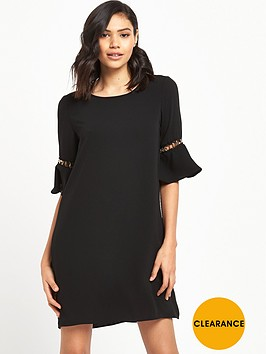 river-island-swing-dress-with-flute-sleeve-detail