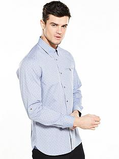 ted-baker-diamond-print-ls-shirt