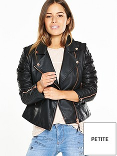 v-by-very-petite-petite-rib-and-zip-detail-faux-leather-jacket-black