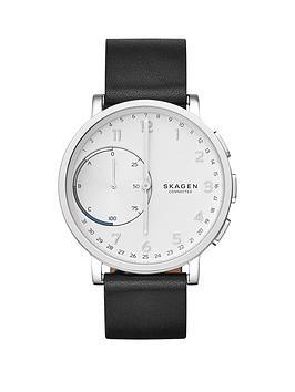 skagen-skagen-hagen-connected-silver-white-dial-leather-strap-smart-watch