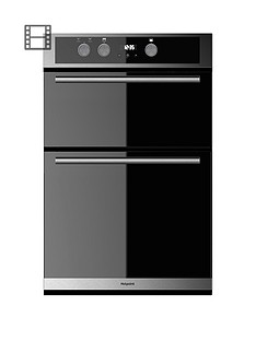 hotpoint-dd2844cix-60cm-electric-built-in-double-oven--stainless-steelblack