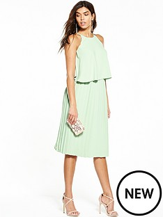 v-by-very-pleated-midi-dress-mint