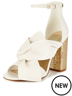 miss-selfridge-white-bow-heel-sandal