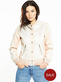 v-by-very-pu-perforated-varsity-jacket