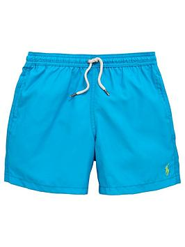 Ralph Lauren Boys Classic Swim Shorts &Ndash Hawaiian Ocean