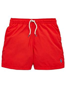 Ralph Lauren Boys Classic Swim Shorts  Red