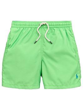 Ralph Lauren Boys Classic Swim Shorts &Ndash Green