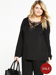 v-by-very-curve-floral-lace-long-sleeve-jersey-top-black
