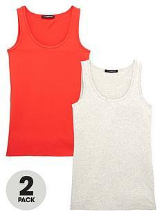 so-fabulous-curve-pack-of-2-longline-vests-redgrey