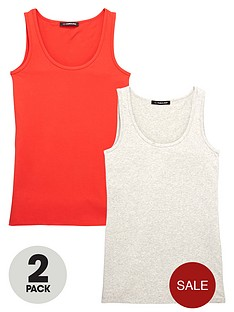 so-fabulous-curve-pack-of-2-longline-vests-redgrey