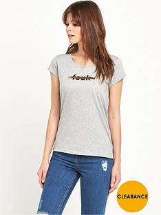 french-connection-strike-through-t-shirt
