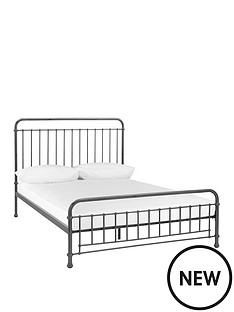 foster-metal-double-bed-frame-with-optional-mattress