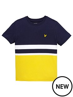 lyle-scott-ss-colourblock-tee
