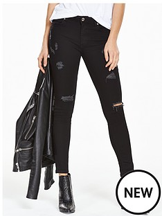 myleene-klass-distressed-skinny-jeans-black