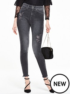 v-by-very-ella-flower-embroidered-skinny-jean