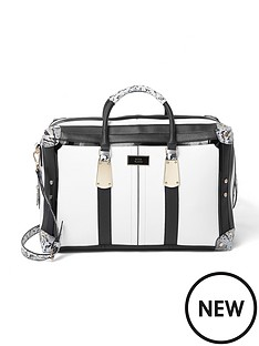 river-island-white-mono-weekend-bag