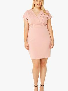 paper-dolls-curve-v-neck-dress-rose