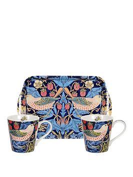 portmeirion-pimpernel-strawberry-thief-blue-mug-amp-tray-set