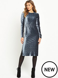 glamorous-ripple-effect-midi-dress