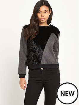 glamorous-faux-suede-patch-jumper