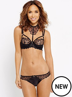 myleene-klass-wet-look-embroidered-brief-black