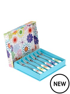 portmeirion-crazy-daisy-pastry-forks-set-of-6