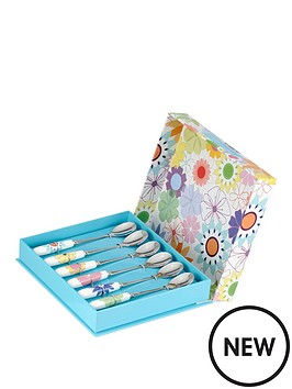 portmeirion-crazy-daisy-teaspoons-set-of-6