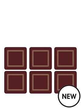 pimpernel-classic-burgundy-coasters-set-of-6