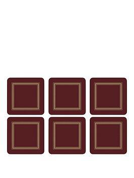 pimpernel-set-of-6-classic-burgundy-coasters