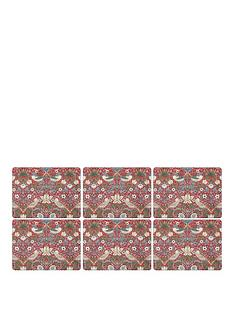 pimpernel-strawberry-thief-red-placemats-ndash-set-of-6
