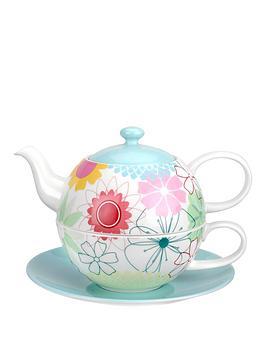 Portmeirion Crazy Daisy Tea For One With Saucer Set