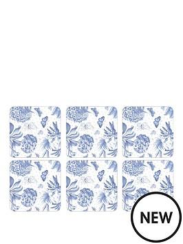 pimpernel-botanic-blue-coasters-set-of-6