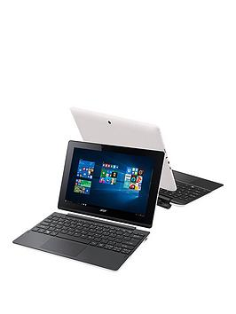 Acer Switch 10E Intel&Reg Atom&Trade Quad Core Processor 2Gb Ram 32Gb Emmc Storage 10.1 Inch Touchscreen 2In1 Laptop Including Microsoft Office Mobile &Ndash White  Laptop With Mcafee Livesa