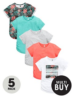 v-by-very-essentials-girls-printed-and-plain-t-shirts-5-pack
