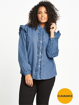 lost-ink-curve-denim-frill-shirt