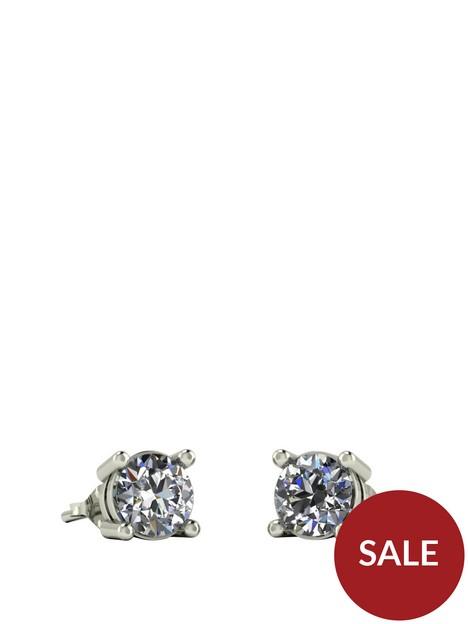 moissanite-9ct-white-gold-1ctnbsptotalnbspequivalentnbsp5mm-earrings