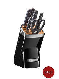 kitchenaid-professional-series-7-piece-micarta-knife-block-set-black