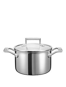 Kitchenaid 3Ply Stainless Steel Cookware Collection &Ndash 18Cm Saucepot
