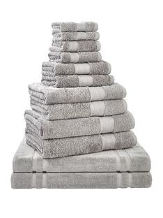 bianca-cottonsoft-12-piece-egyptian-towel-bale-grey