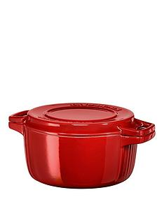 kitchenaid-professional-series-28cm-round-cast-iron-casserole-pot-red