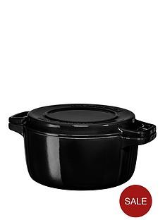 kitchenaid-professional-series-24cmnbspround-cast-iron-casserole-pot-in-black