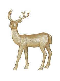 gisela-graham-gold-glitter-reindeer-ornament