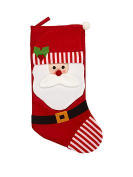 gisela-graham-santa-fabric-stocking