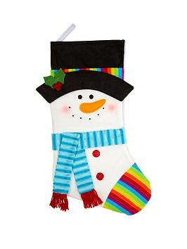 gisela-graham-snowman-fabric-stocking