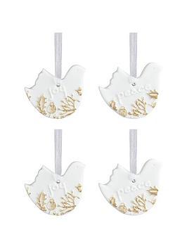 gisela-graham-set-of-4-white-amp-gold-ceramic-bisque-bird-christmas-tree-decorations