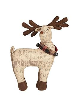 gisela-graham-sentiment-fabric-reindeer-ornament