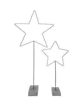 gisela-graham-wire-led-5-point-star-with-resin-stand