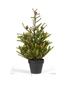 gisela-graham-christmas-fir-tree-with-cones-in-pot